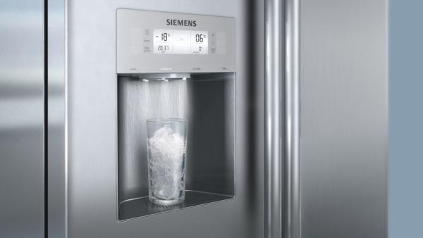 vanddispenser siemens amerikanerkøleskab